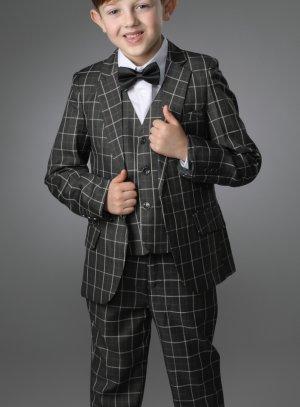 costume enfant carreaux gris