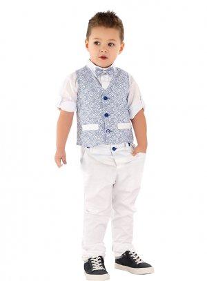 Costume mariage garcon blanc bleu roy Diego 3 à 10 ans