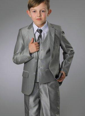 costume garçon gris mariage