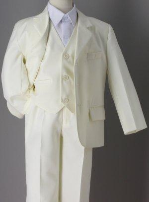 costume garçon ivoire pour communion mariage Charles 3 pièces