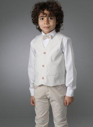 costume enfant beige