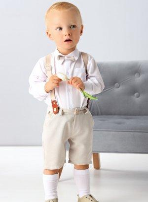costume bébé beige
