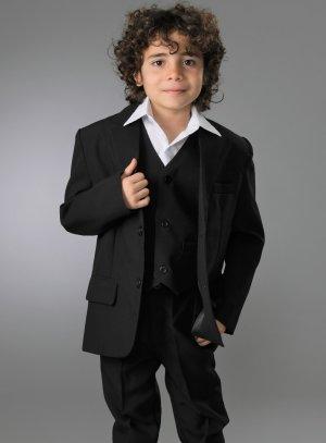 Costume noir garçon enfant pour mariage ou cérémonie Charles