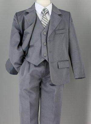 costume enfant gris
