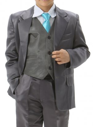 costume garçon gris anthracite