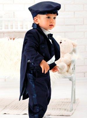 costume bébé bleu marine