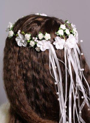 couronne de fleurs mariage communion