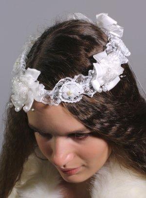 couronne de communion blanche