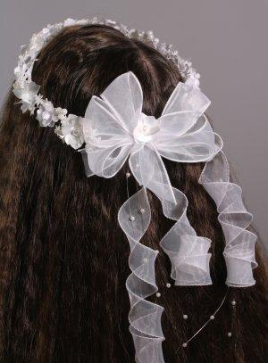 couronne de fleur blanche pour enfant