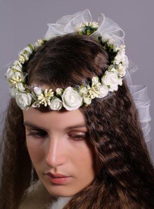 couronne mariage ivoire fleurs