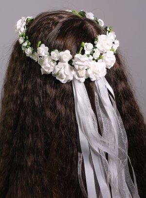 couronne blanche communion