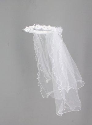 couronne avec voile pour communion