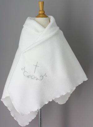 linge blanc baptême gris argent