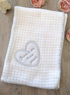 couverture bébé blanche baptême naissance je suis le rêve de mes parents