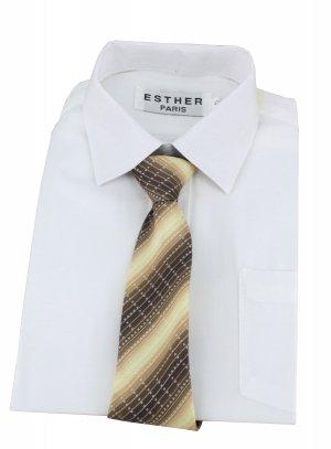cravate enfant marron