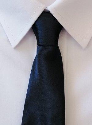 cravate enfant marine satin noeud déjà fait
