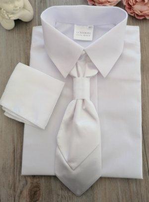 Cravate lavallière enfant blanche