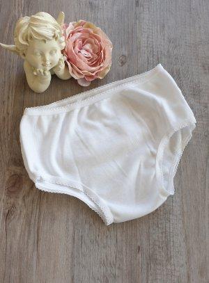 Culotte de baptême blanche bébé fille avec froufrou