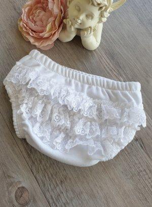 culotte froufrou bébé blanc
