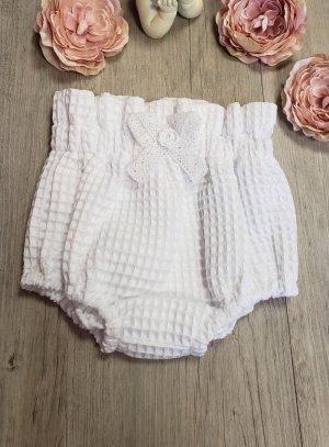 culottes de baptême, polo blanc