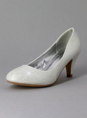 chaussures de soirée femme blanc