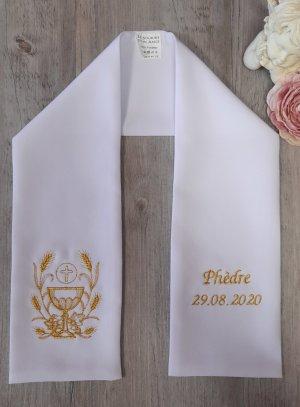 étole communion calice or