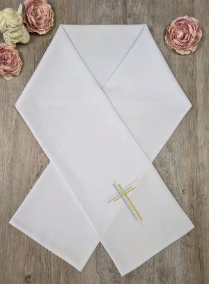Etole de communion brodée avec Croix Moderne