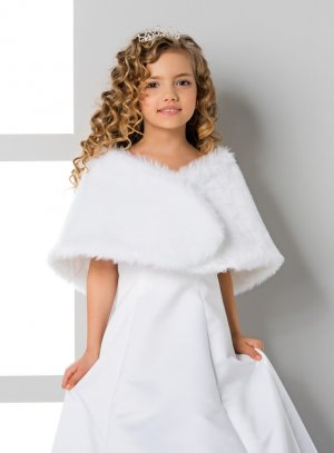 étole fourrure enfant blanche