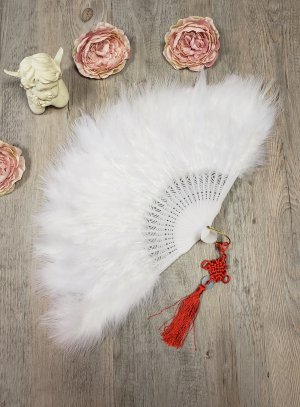 Eventail plume mariage