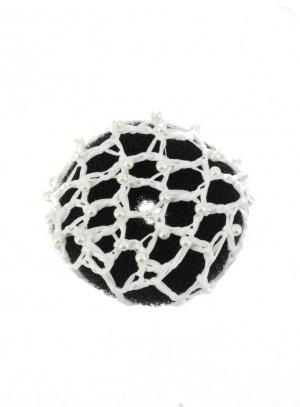 filet cheveux crochet blanc pour chignon