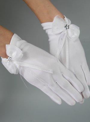 gants enfant communion mariage avec noeud