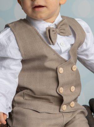 gilet bébé petit garçon pour mariage champêtre style vintage