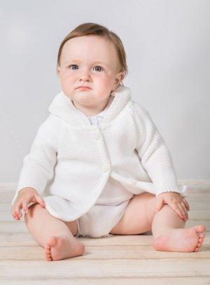gilet blanc bébé fille baptême