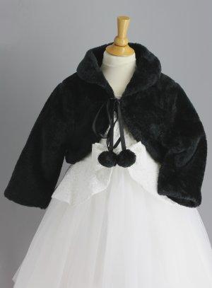 boléro, gilet, veste de cérémonie fille noir