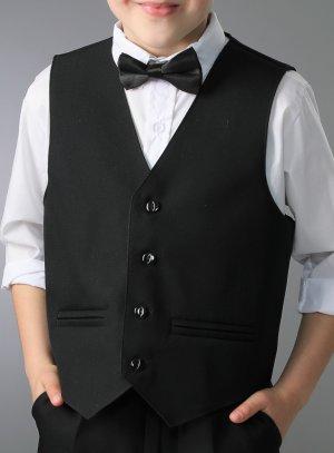 gilet costume noir pour enfant mariage cérémonie