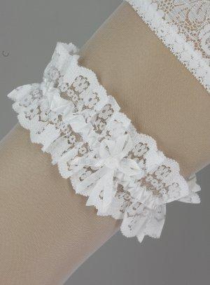jarretière mariage blanc