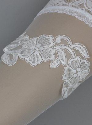 jarretière mariée dentelle large blanche