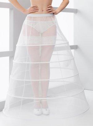 jupon mariage 5 cerceaux blanc