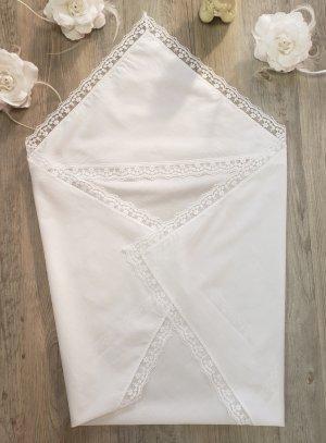 Linge Blanc Baptême en carré de tissu coton