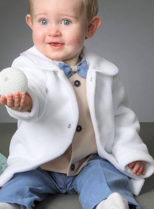 manteau blanc bébé garçon polaire