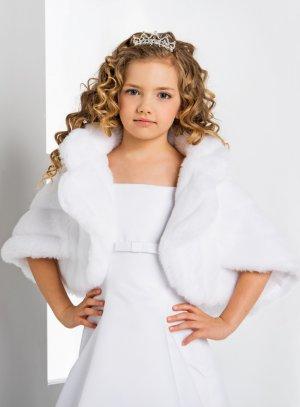 boléro, gilet, veste cérémonie fille blanc
