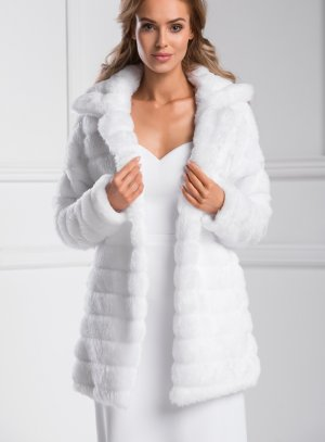 manteau mariée blanc