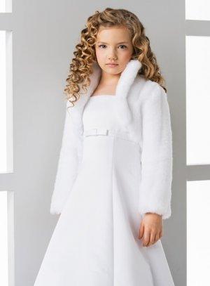 manteau fourrure enfant blanc fille