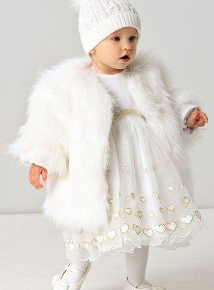 manteau fourrure bébé fausse fourrure blanche