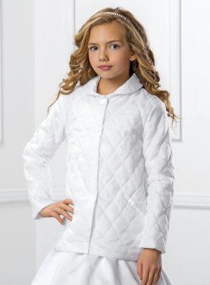 Manteau cérémonie mariage hiver pour fille blanc