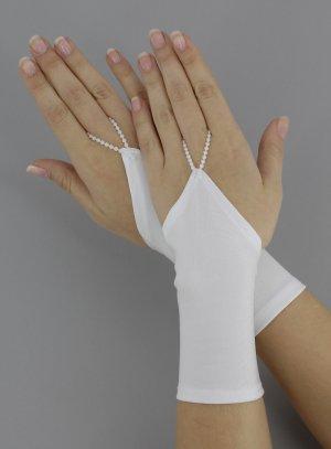 gants de mariée et mitaines blanc