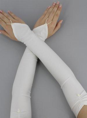 gants de mariée et mitaines ivoire - ecru