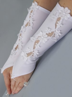 mitaine gant enfant mariage dentelle fleurs