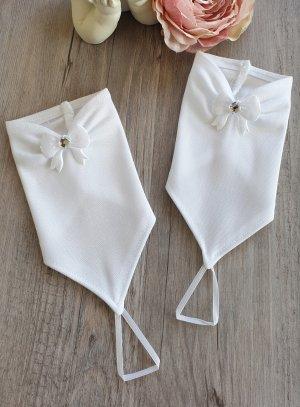 mitaine enfant mariage noeud et strass