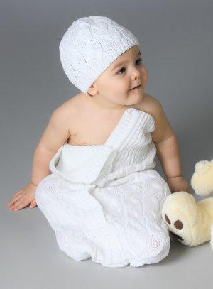 nid d'ange bébé linge blanc baptême